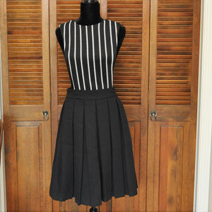 English Factory Black Detachable Skirt Jumper Sz S